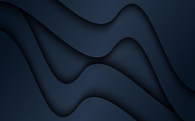 Abstracte donkere 3d papercut vormen achtergrond.