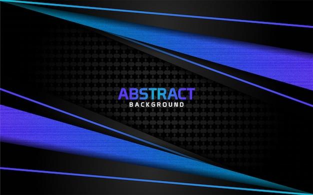 Abstracte donkere achtergrond en blauwe lijnen in stijl