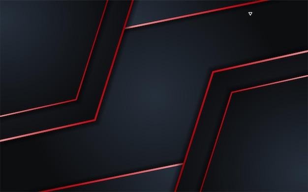 Abstracte donkere achtergrond met eenvoudig rood lijnenelement