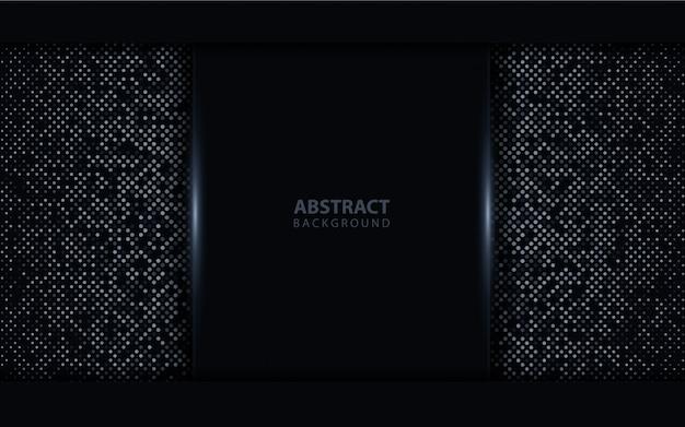 Abstracte donkere achtergrond met licht glitters element