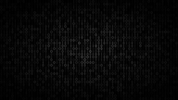 Abstracte donkere achtergrond van kleine ringen en ellipsen in tinten van zwarte en grijze kleuren.