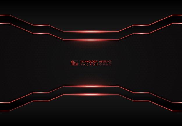 Abstracte donkere digitale sjabloon met rode laser overlappen achtergrond.