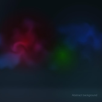 Abstracte donkere full colour achtergrond gloeiende veelkleurige rook vectorillustratie
