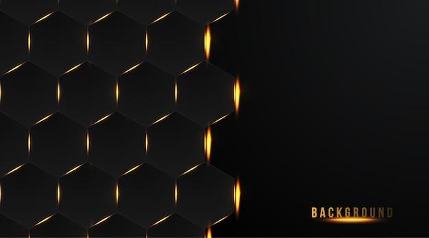 Abstracte donkere gouden zeshoek achtergrond
