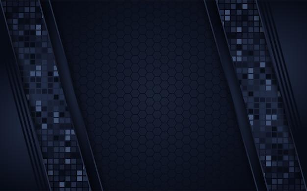 Abstracte donkere marine vierkante achtergrond
