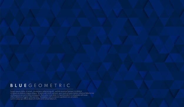 Abstracte donkere marineblauwe geometrische zeshoekige vormachtergrond.