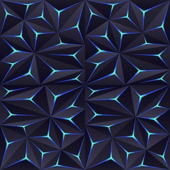 Abstracte donkere veelhoekachtergrond met lichteffect. moderne geometrische achtergrond