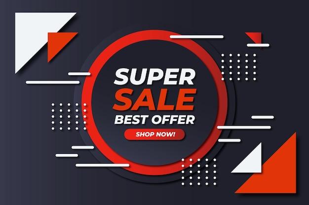 Abstracte donkere verkoop super aanbieding als achtergrond