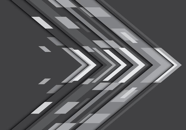 Abstracte donkergrijze geometrische de technologieachtergrond van de toonpijl.