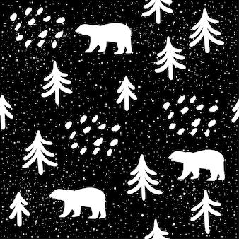 Abstracte doodle naadloze klomp achtergrond. monochroom zwart-wit patten voor ontwerp wenskaart, moderne feestuitnodiging, halloween vakantiemenu, tas afdrukken, t-shirtontwerp enz.