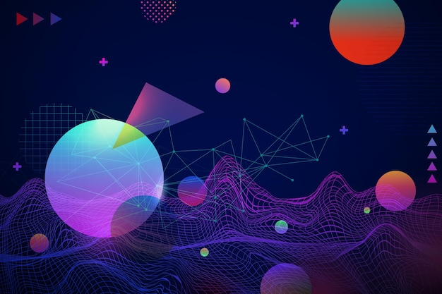 Abstracte draadframe achtergrond met kleurovergang
