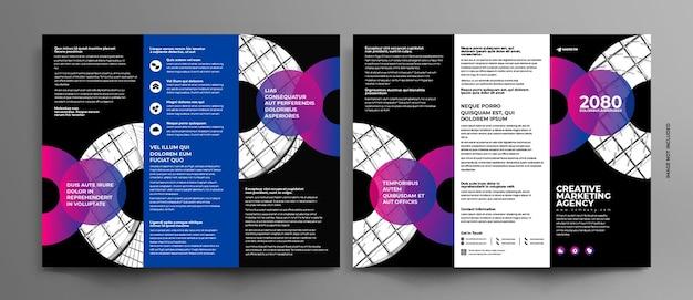 Abstracte driebladige brochure concept sjabloon