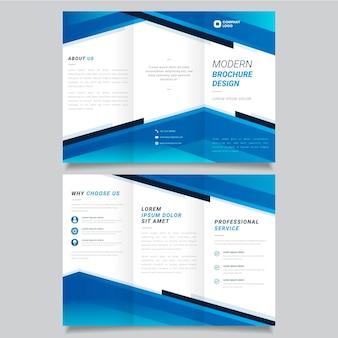Abstracte driebladige brochure sjabloon collectie