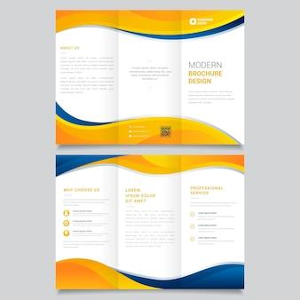 Abstracte driebladige brochure sjabloon set