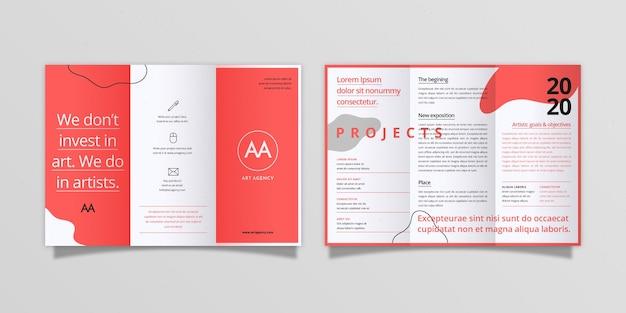 Abstracte driebladige brochure