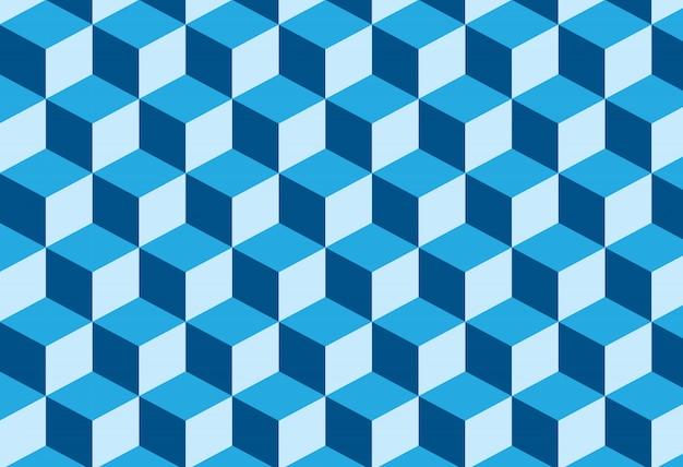 Abstracte driedimensionale zeshoek achtergrond
