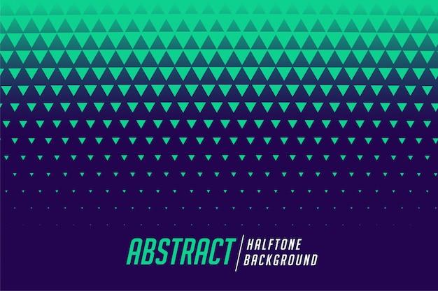 Abstracte driehoek halftone stijl patroon achtergrond