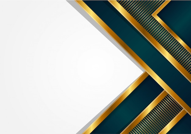 Abstracte driehoek veelhoekige luxe achtergrond. streeppatroon op gouden verloop. moderne geometrische stijl.