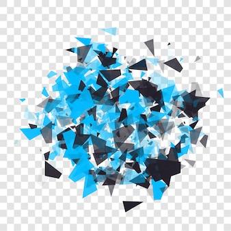 Abstracte driehoeken deeltjes met transparante schaduwen reclamepaneel infographic achtergrond it...