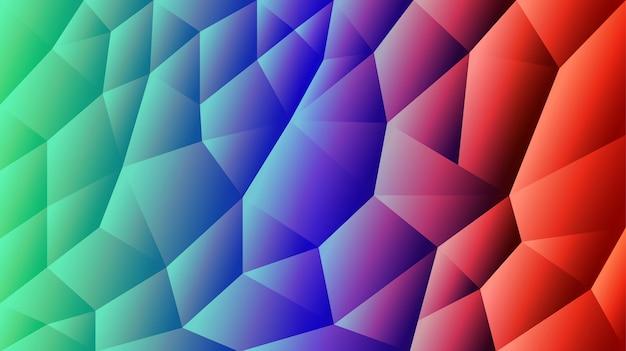 Abstracte driehoekige achtergrond gradiënt rode en blauwe achtergrond illustrator