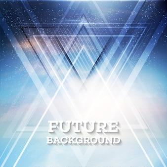 Abstracte driehoeks toekomstige vectorachtergrond