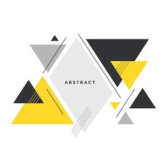 Abstracte driehoeksachtergrond in de stijl van memphis