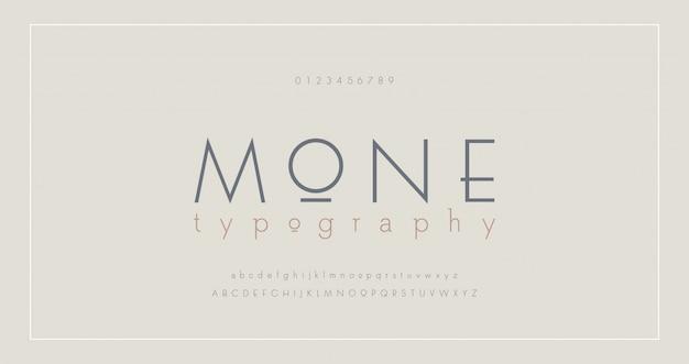 Abstracte dunne lijn lettertype alfabet