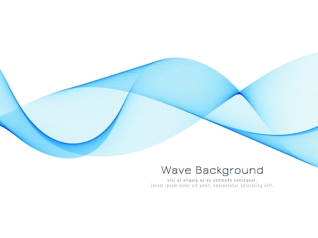 Abstracte dynamische blauwe golf achtergrond vector