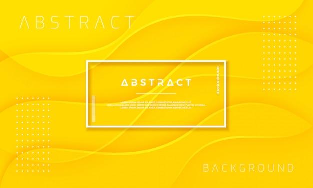 Abstracte, dynamische en geweven gele achtergrond.