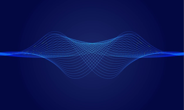 Abstracte dynamische golf lijnen achtergrond