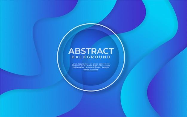 Abstracte dynamische gradiënt blauwe achtergrond met vormsamenstelling