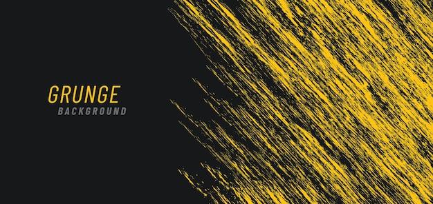 Abstracte dynamische heldere gele grungy op donkere achtergrond.
