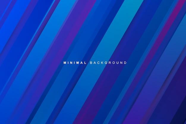 Abstracte dynamische moderne levendige blauwe gradiënt strepen textuur achtergrond