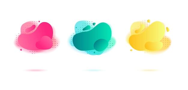 Abstracte dynamische vloeiende vloeibare vormen, amoebevormen.