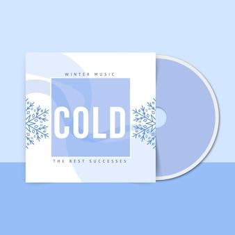 Abstracte eenkleurige cd-hoes voor de winter