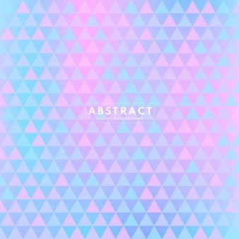 Abstracte eenvoudige geometrische achtergrond met de vorm van pastelkleurdriehoeken.