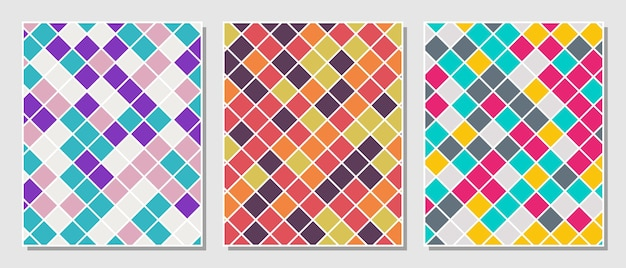 Abstracte eenvoudige set kleurrijke rechthoeken patroon achtergrond. vector illustratie.