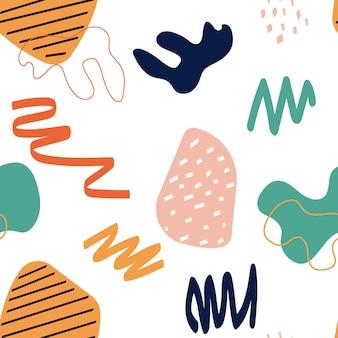 Abstracte eenvoudige vorm naadloze patroon achtergrond. vector illustratie