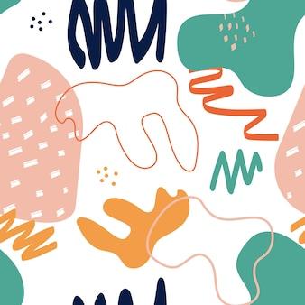 Abstracte eenvoudige vorm naadloze patroon achtergrond. vectorillustratie eps10