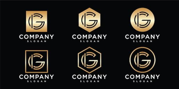 Abstracte eerste letter g logo ontwerpsjabloon