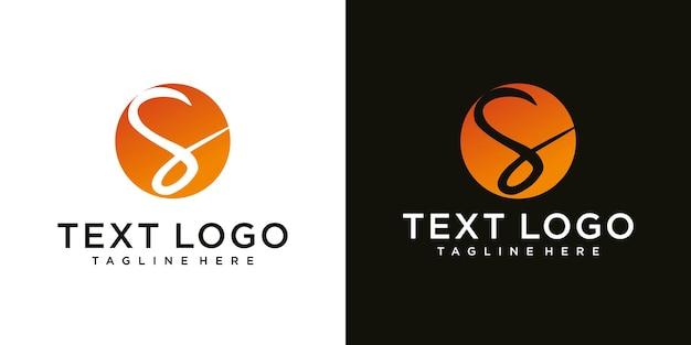 Abstracte eerste letter s minimale logo ontwerpsjabloon