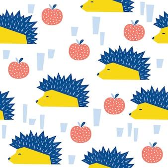 Abstracte egel naadloze patroon achtergrond. kinderachtig abstract ambacht voor ontwerpkaart, behang, album, plakboek, vakantiepapier, textielstof, tasafdruk, t-shirt enz.