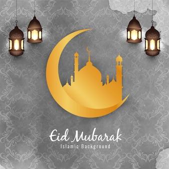 Abstracte eid mubarak prachtige islamitische