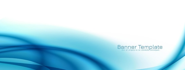Abstracte elegante blauwe golf