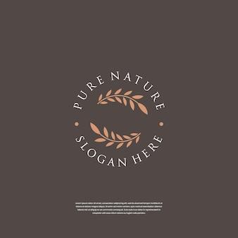 Abstracte elegante boom blad bloem logo ontwerp inspiratie