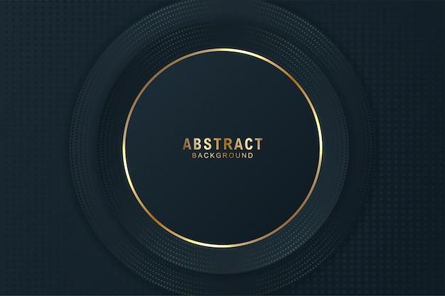 Abstracte elegante donkere cirkelachtergrond