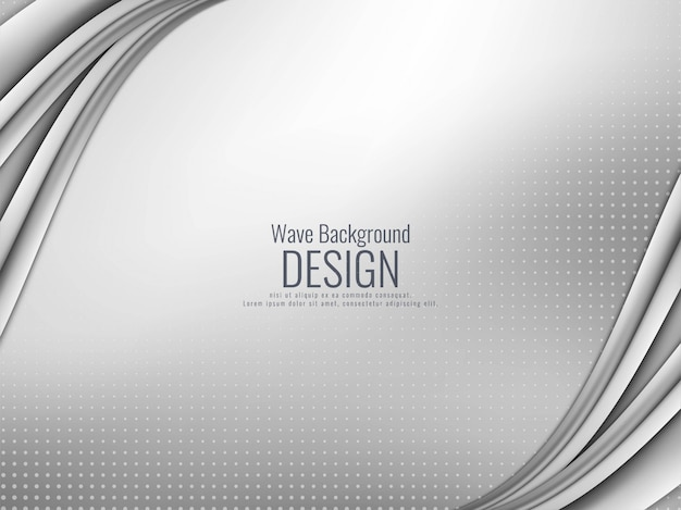 Abstracte elegante grijze golvende achtergrond