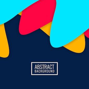 Abstracte elegante kleurrijke papercutachtergrond