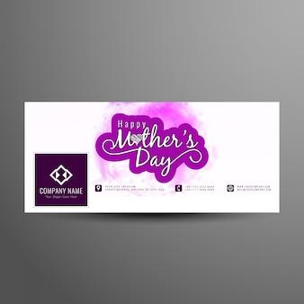 Abstracte elegante moederdag facebook cover ontwerpsjabloon