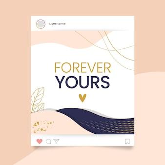 Abstracte elegante valentijnsdag instagram-post